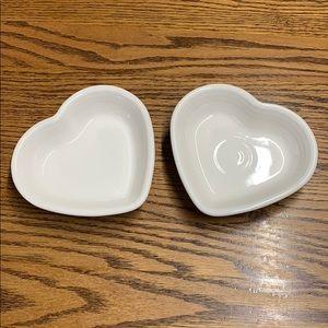 2 fiesta heart dishes